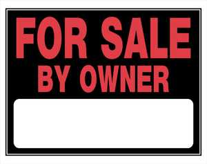 Hillman 840030 For Sale By Owner Sign 15x19