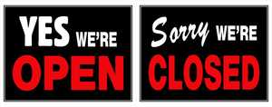 Hillman 840046 Yes We're Open/Sorry We're Closed Sign 15x19