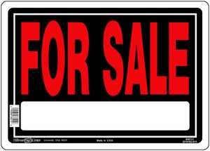 Hillman 840131 For Sale Sign 10x14