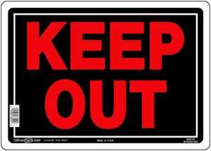 Hillman 840139 Keep Out! Sign 10x14