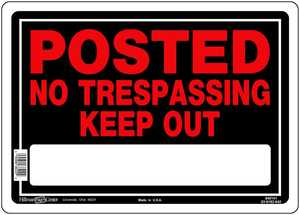 Hillman 840141 Posted Keep Out Sign 10x14