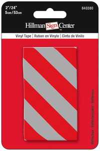 Hillman 840380 Reflective Tape 24x2 Red/Silver