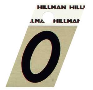 Hillman 840474 #0 - 1-1/2 in Black On Gold Angle-Cut Aluminum