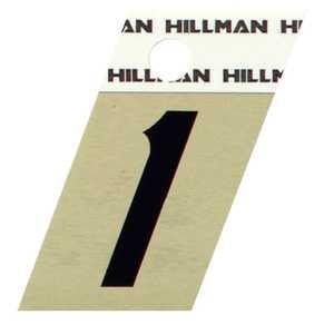 Hillman 840476 #1 - 1-1/2 in Black On Gold Angle-Cut Aluminum
