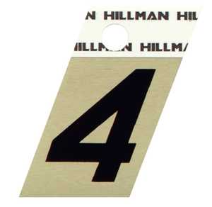Hillman 840482 #4 - 1-1/2 in Black On Gold Angle-Cut Aluminum