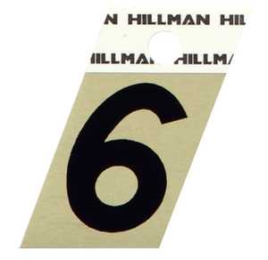 Hillman 840486 #6 - 1-1/2 in Black On Gold Angle-Cut Aluminum