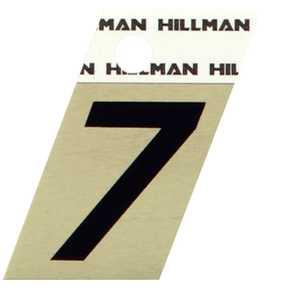 Hillman 840488 #7 - 1-1/2 in Black On Gold Angle-Cut Aluminum