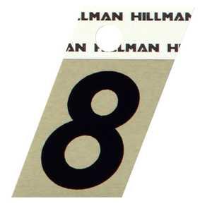Hillman 840490 #8 - 1-1/2 in Black On Gold Angle-Cut Aluminum
