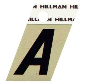 Hillman 840494 A - 1-1/2 in Black On Gold Angle-Cut Aluminum