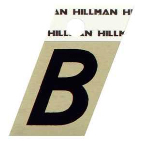 Hillman 840496 B - 1-1/2 in Black On Gold Angle-Cut Aluminum