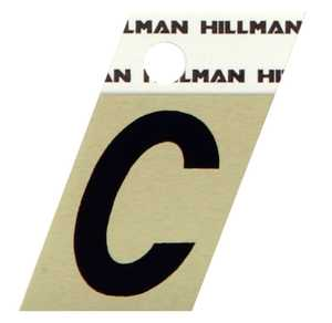 Hillman 840498 C - 1-1/2 in Black On Gold Angle-Cut Aluminum