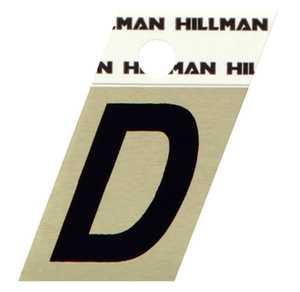 Hillman 840500 D - 1-1/2 in Black On Gold Angle-Cut Aluminum