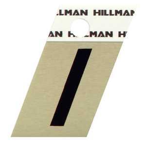 Hillman 840510 I - 1-1/2 in Black On Gold Angle-Cut Aluminum