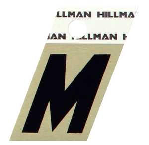 Hillman 840518 M - 1-1/2 in Black On Gold Angle-Cut Aluminum