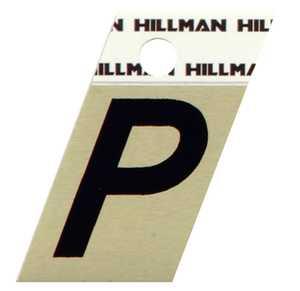 Hillman 840524 P - 1-1/2 in Black On Gold Angle-Cut Aluminum