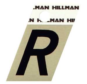 Hillman 840528 R - 1-1/2 in Black On Gold Angle-Cut Aluminum