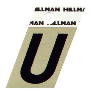 Hillman 840534 U - 1-1/2 in Black On Gold Angle-Cut Aluminum