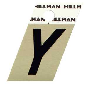 Hillman 840542 Y - 1-1/2 in Black On Gold Angle-Cut Aluminum