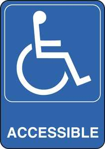 Hillman 841780 Handicapped Symbol Sign 5x7