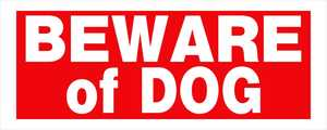 Hillman 841794 Beware Of Dog Sign 6x15