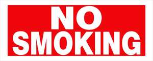 Hillman 841798 No Smoking Sign 6x15