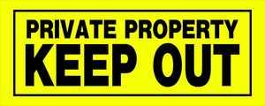 Hillman 841804 Private Property Sign 6x15