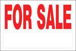 Hillman 841942 For Sale Sign Peel-N-Stick 8x12