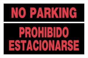 Hillman 841976 Bilingual No Parking Sign 8x12