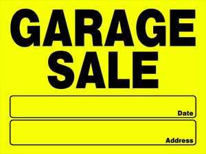 Hillman 842096 Garage Sale Sign 12x16