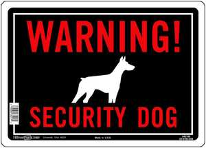 Hillman 842106 Warning Security Dog Sign 10x14