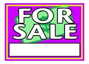Hillman 842108 Vibrant For Sale Sign 10x14
