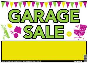 Hillman 842110 Vibrant Garage Sale Sign 10x14