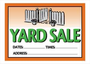 Hillman 842112 Vibrant Yard Sale Sign 10x14