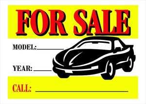 Hillman 842116 Vibrant For Sale Auto Sign 10x14