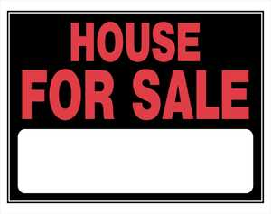 Hillman 842164 House For Sale Sign 15x19