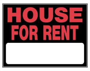 Hillman 842180 House For Rent Sign 15x19
