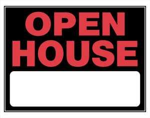 Hillman 842182 Open House Sign 15x19