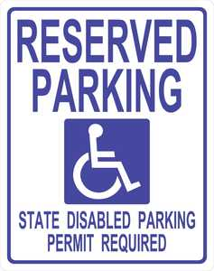 Hillman 842188 Handicapped Parking Sign 19x15