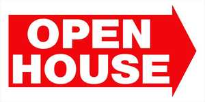 Hillman 842234 Open House W/Arrow Sign 12x24
