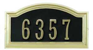 Hillman 843266 Distinction Address Plaque Polished Brass