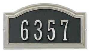 Hillman 843267 Distinction Address Plaque Nickel