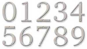 Hillman 843320 Distinctions #0 - 4 in Brushed Nickel Flush Mount House Numbers