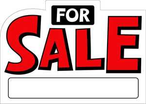 Hillman 843469 2d Shaped For Sale Sign 10x14
