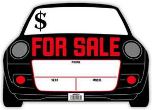 Hillman 843474 2d Shaped Car For Sale Sign 10x14