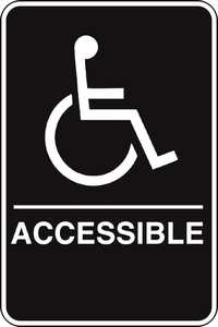 Hillman 844151 Ada Braille Handicapped Accessible Sign 6x9