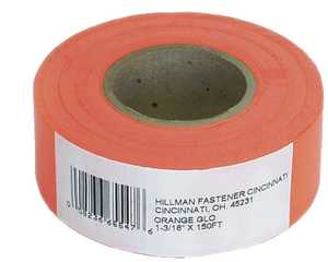 Hillman 845768 Flagging Tape 150 ft Orange