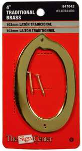 Hillman 847042 #0 - 4 in Traditional Solid Brass House Numbers