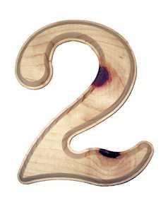 Hillman 847323 #2 - 6-1/2 in Natural Ponderosa Pine Numbers