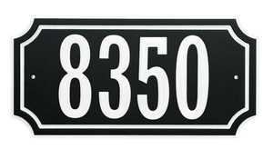 Hillman 848896 Scalloped Address Plaque Black With White Trim