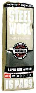 Homax Group 106600-06 Steel Wool #0000 Finish 16pk